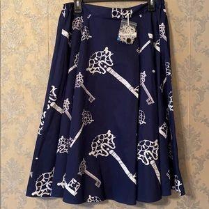 NWT Navy Blue Key Skirt